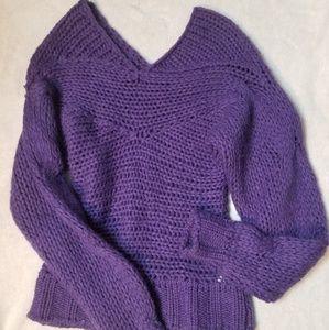 Benetton purple sweater